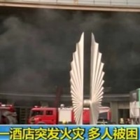 cina albergo in fiamme