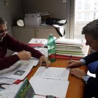 Sindaco Voza firma in Regione