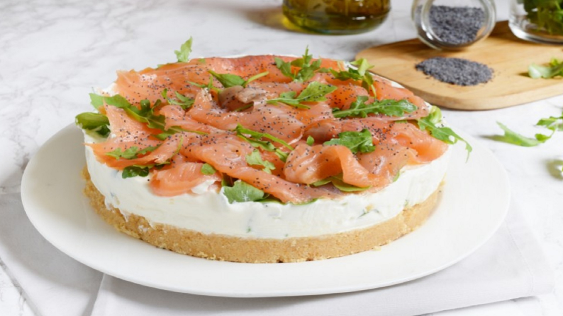 cheescake salmone e rucola