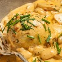 patate cremose ai funghi