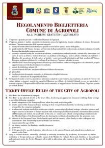 regolamento ticket