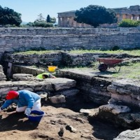 Avvio scavi a Paestum