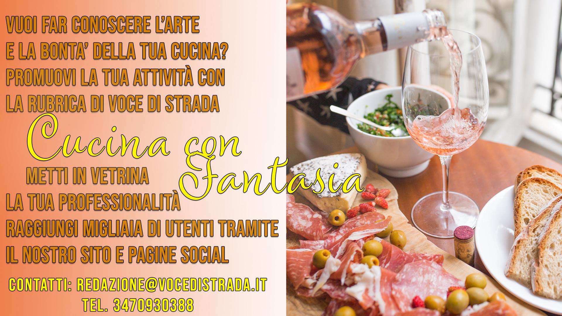 """Cucina con Fantasia"""": la rubrica di VdS di promozione per i ..."""