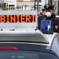Rimini Riccione 10-03-2020 - Polizia Carabinieri Polizia Locale Municipale controlli Corona Virus Covid 19. © Manuel Migliorini - Adriapress.