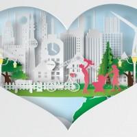 world-environment-paper-art-design-vector
