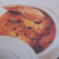 crema di zucca con gamberi