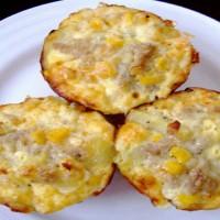 frittatine al formaggio e mais